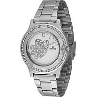 Swis Style Lr2001 White Dial Metal Chain Analog Watch For Women