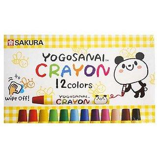 Sakura Yogosanai Set of 24 Assorted Color Crayons