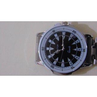Factor Stylish Analog Silver Metal Wrist Watch - Men