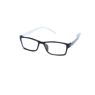 St Black Frame And White Temple  Combination Spectacle Frames For Men And Women-Stfrm096