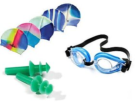 Swimming Cap Glasses  Ear Plugs For Kids