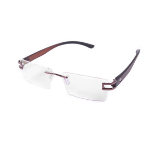 St Brown And Black Rimless Frame  For Mens And Womens-Stfrm032