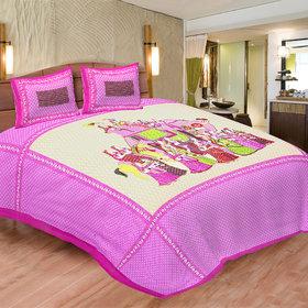 Chokor Jaipuri Cotton Double Bedsheet(R2S135)