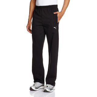 Puma Mens Black 100 Cotton Track Pant