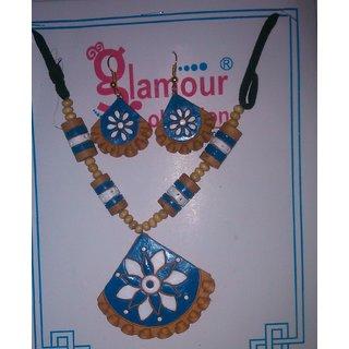 Terracotta Jewellery (Blue)
