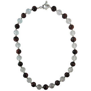 Pearlz Ocean Crystal and Red Tiger Eye 18