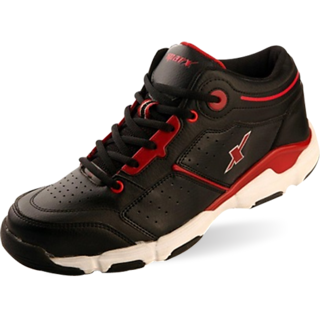 Sparx Black Red Colored Men's Running Shoes