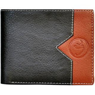 Vagan-Kate v black leather wallet for men