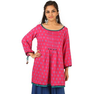 51948f0322 Buy Indricka Pink Color Tunic For Women Online - Get 0% Off