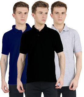 ab16a89b83 FUEGO Fashion Wear Combo Of Polo T-shirt For Men- Pack Of 3 FG