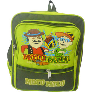 RSC Polyster Motu Patlu School Bag Green 1209