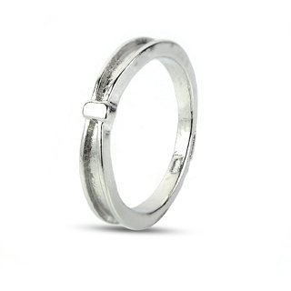 Fashion Vantage Style Alloy Ladies Simple Plan Band Ring
