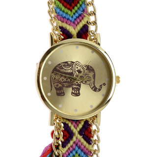 GENEVA Multicolour Strap Party Wear Analog Watch For Women