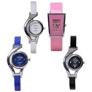 Glory Money Saving Combo of 4 Analog Watches For Women