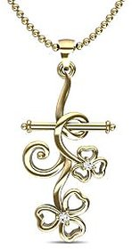 Arrow Of Cupid Gold And Diamond Pendant