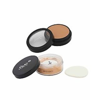 Stars Cosmetics Combo Of make up foundation fs38 Translucent Powder Beige Matt.