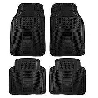 Black Car Foot Mats (Set Of 4) universal Size