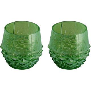 AnasaDecor  Green Carving Votive Tealight Candle Holder
