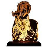 Unique Hand Engraved Krishna With Cow Lamp BY Divinoart
