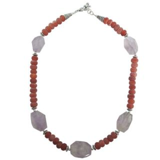 Pearlz Ocean Frosted Agate and Amethyst 18