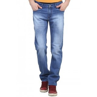 Raux Mens Light Blue Slim Fit Jeans