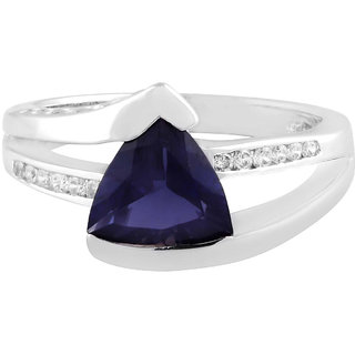 925 Sterling Silver Ring designed by Allure with Iolite and Cubic Zirconia