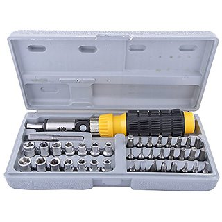 41 Piece Bit and Socket Set for Home - Office, PC, Car etc