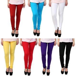 Stylobby Multi Color Legging Combo Of 7