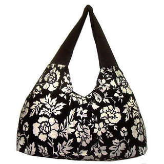 Stylish Black Canvas Sholder Bag