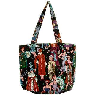 Stylish Multi Color Poly Cotton Tote Bag