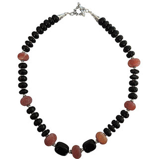 Pearlz Ocean Black Agate and Frosted Agate 18