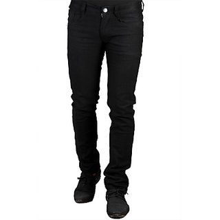 Mahadev fashion point Fit Mens Cotton Jeans black in color