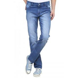 Raux Mens light Blue faded Slim Fit Jeans
