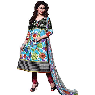 Meera printed cotton dress material-ANS04