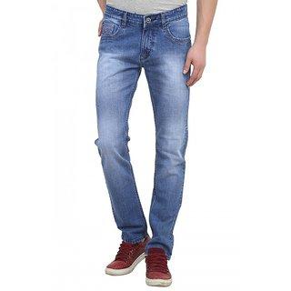 Raux Mens Light Blue stonewash Slim Fit Jeans