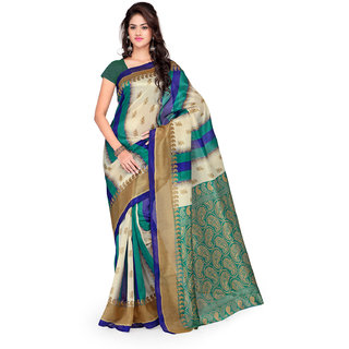 Sareemall Multicolor Art Silk Printed Saree With Blouse
