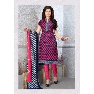 Fashion Curves - Unstiched Pure Cotton Dress Material