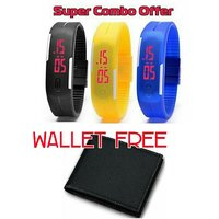 Super Combo 3 Smart Band Watch And Free Wallet