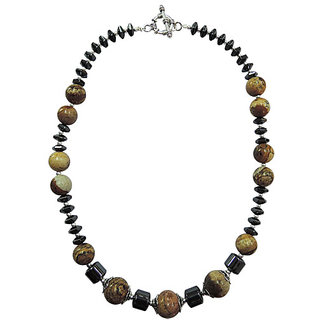 Pearlz Ocean Picture Jasper and Hematite 18