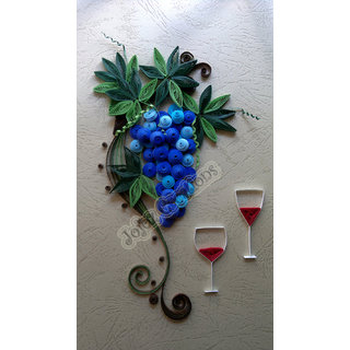 Unique Handmade Quilled Grapes Vine Wall Art Hanging Framed