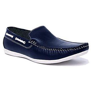 vihangam black color loafer for men