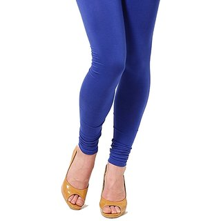 Stylobby Blue Cotton Lycra Leggings
