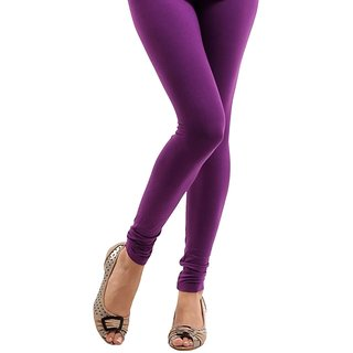 Stylobby Purple Cotton Lycra Leggings