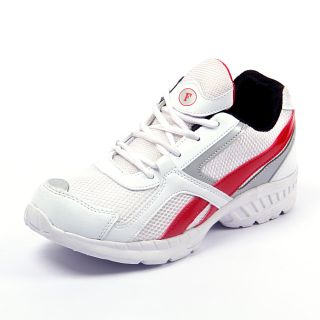 Foot 'n' Style Comfortable White & Red Sports Shoes (fs419)