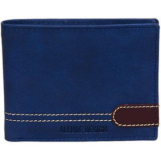 Allure Design Mens Formal Non Leather Blue Coloure Wallet