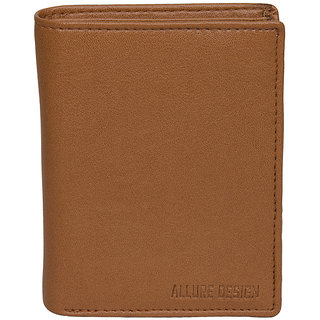 Allure Design Mens Formal Non Leather Tan Coloure Wallet