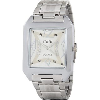 fnb Analog Silver Dial Men Watch-fnb0015