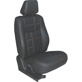 HJ CUSTOMIZED SEAT COVER  ,MODEL-BALENO ,DESIGN- EQUAL ,MAX COLOUR -BLACK , STITCH COLOUR-RED