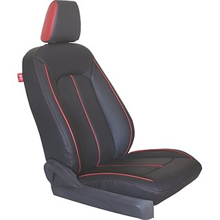 HJ CUSTOZED SEAT COVER    MODEL- ECOSPORTS(DOUBLE BACK) DESIGN-  PLUS MAX COLOR- BLACK N COLOR- RED