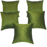 Zikrak Exim Box Quilting Cushion Cover Green 5 Pcs Set